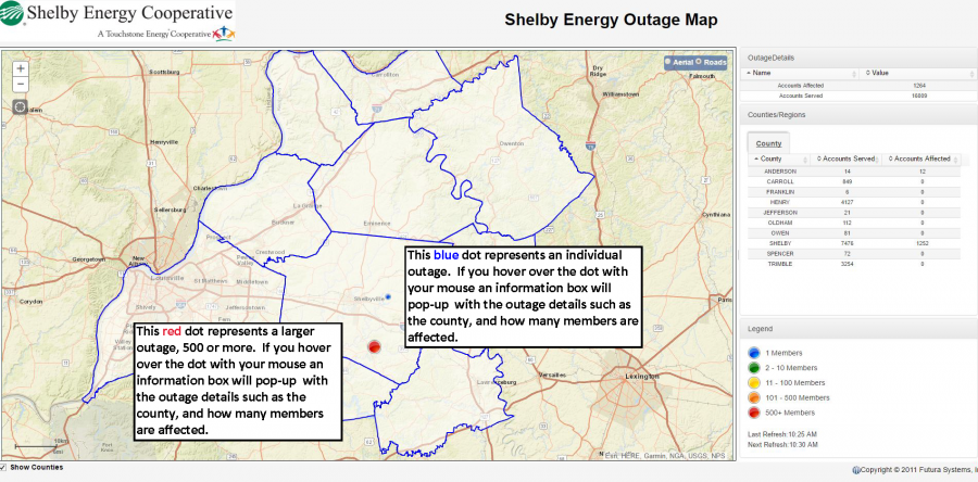 Outage Map Shelby Energy Cooperative