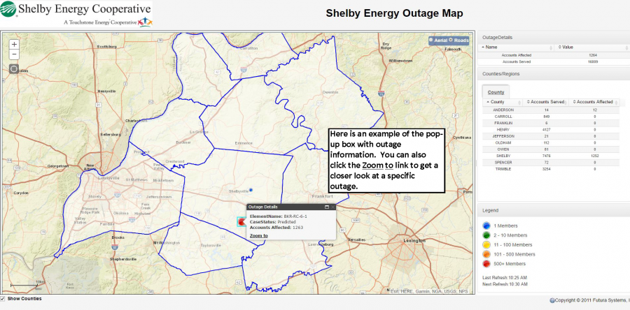 Outage Map | Shelby Energy Cooperative on at&t u-verse availability map, projected snow accumulation map, power map, android map, concord new hampshire map, aaa cooper transit time map, mobile map, apple map, coverage map, ipad map, education map, data map, nj new jersey map, amazon map, microsoft map, technology map, government map, construction map, office map, louisiana natural resources map,